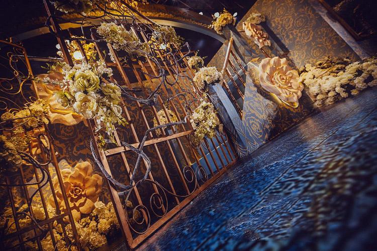 欧式婚礼布置效果图_高端大气婚礼布置图片