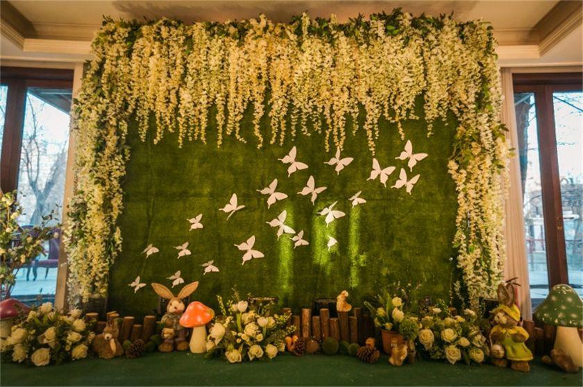 婚礼背景图森系布置图片  长沙婚庆公司蜜匠婚礼为您推荐婚礼的背景墙