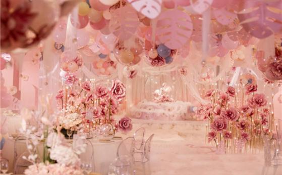 粉色婚礼主题布置 粉色童话主题婚礼布置方案