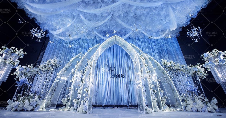 仙桃蓝色婚礼现场布置方案