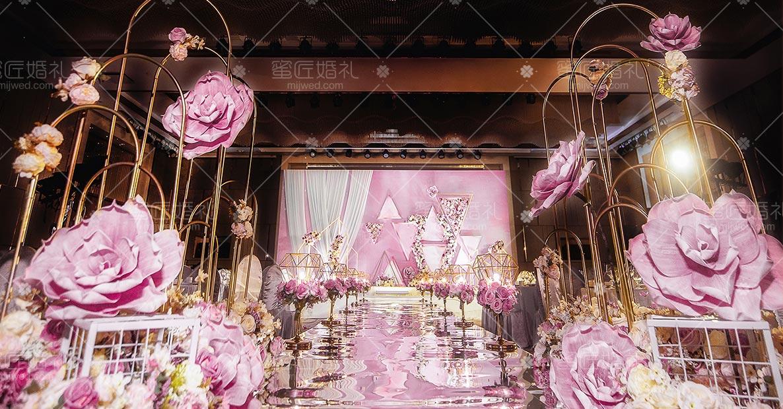 广州甜粉红时尚婚礼现场价格