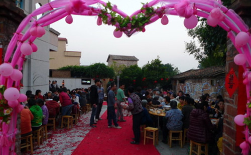 农村结婚院子布置图片 农村婚礼现场布置效果图