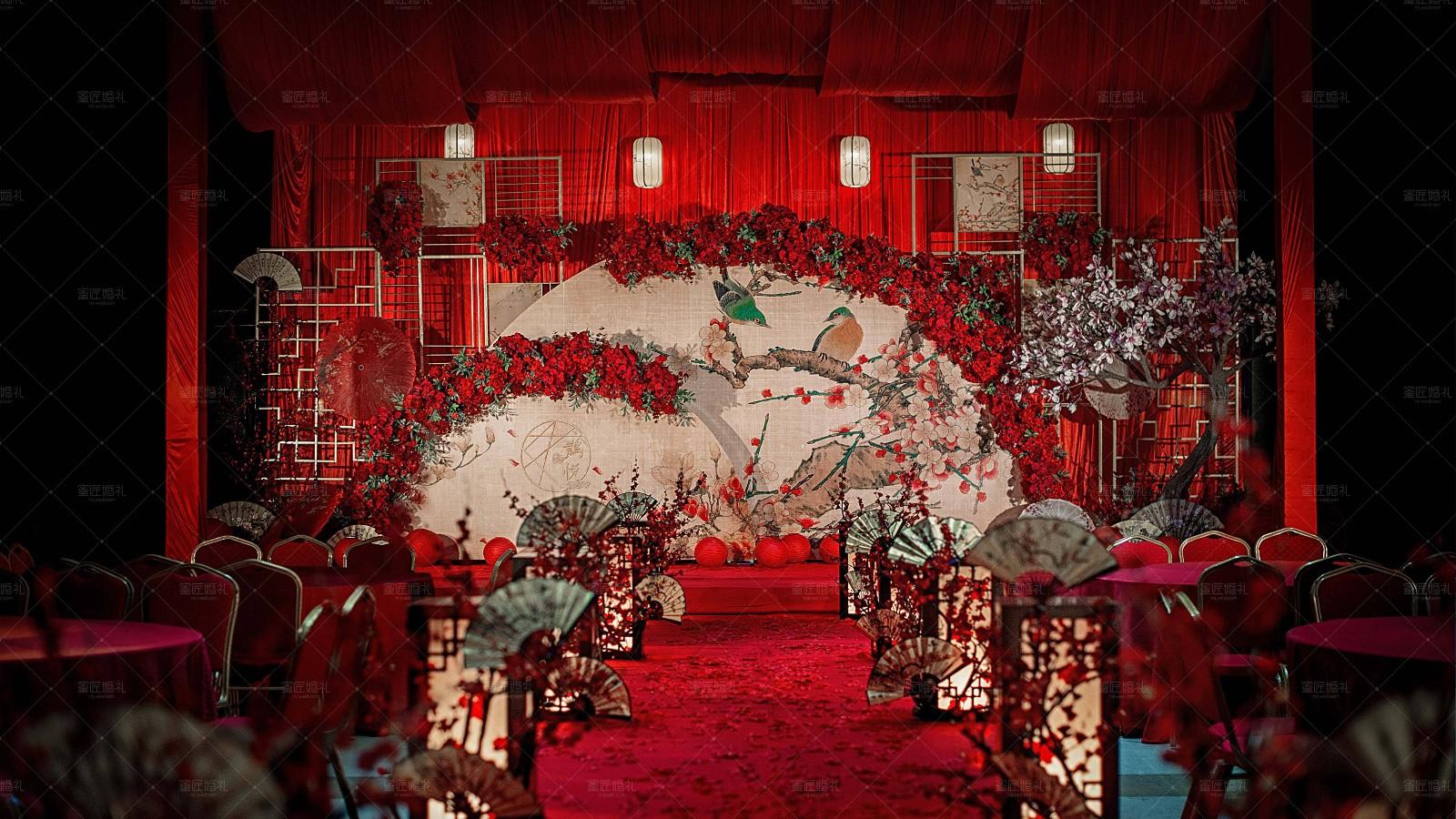 中式婚礼现场布置2020