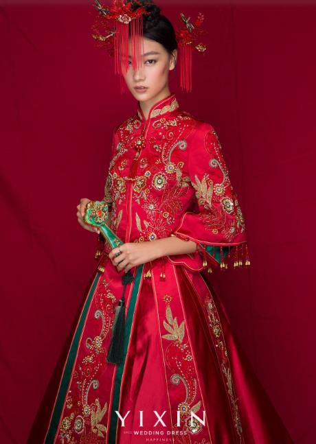 中式新娘礼服图片 婚纱中式礼服图片