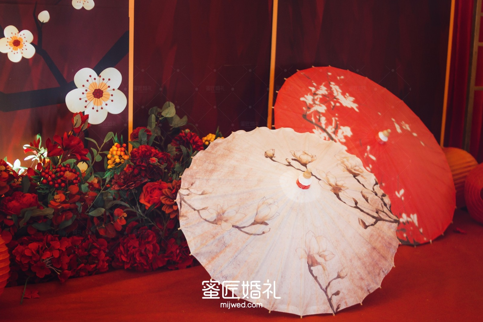 中式婚礼迎宾区效果图