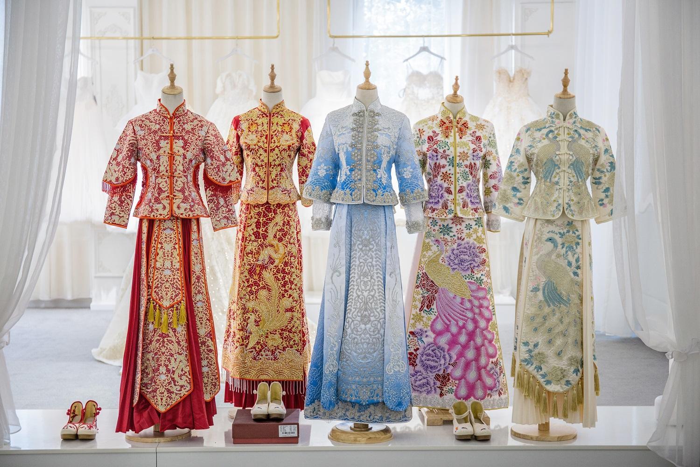 从娘家出门穿秀禾还是婚纱 中式婚礼出门穿婚纱