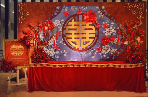 中式婚礼签到台布置 中式签到台怎么布置