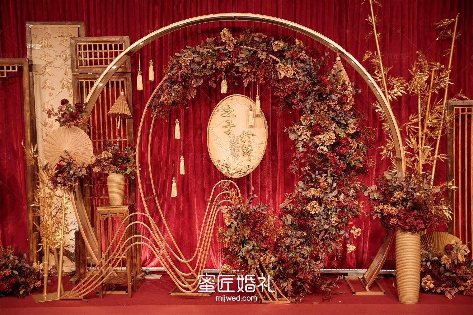 红色主题婚礼布置方案