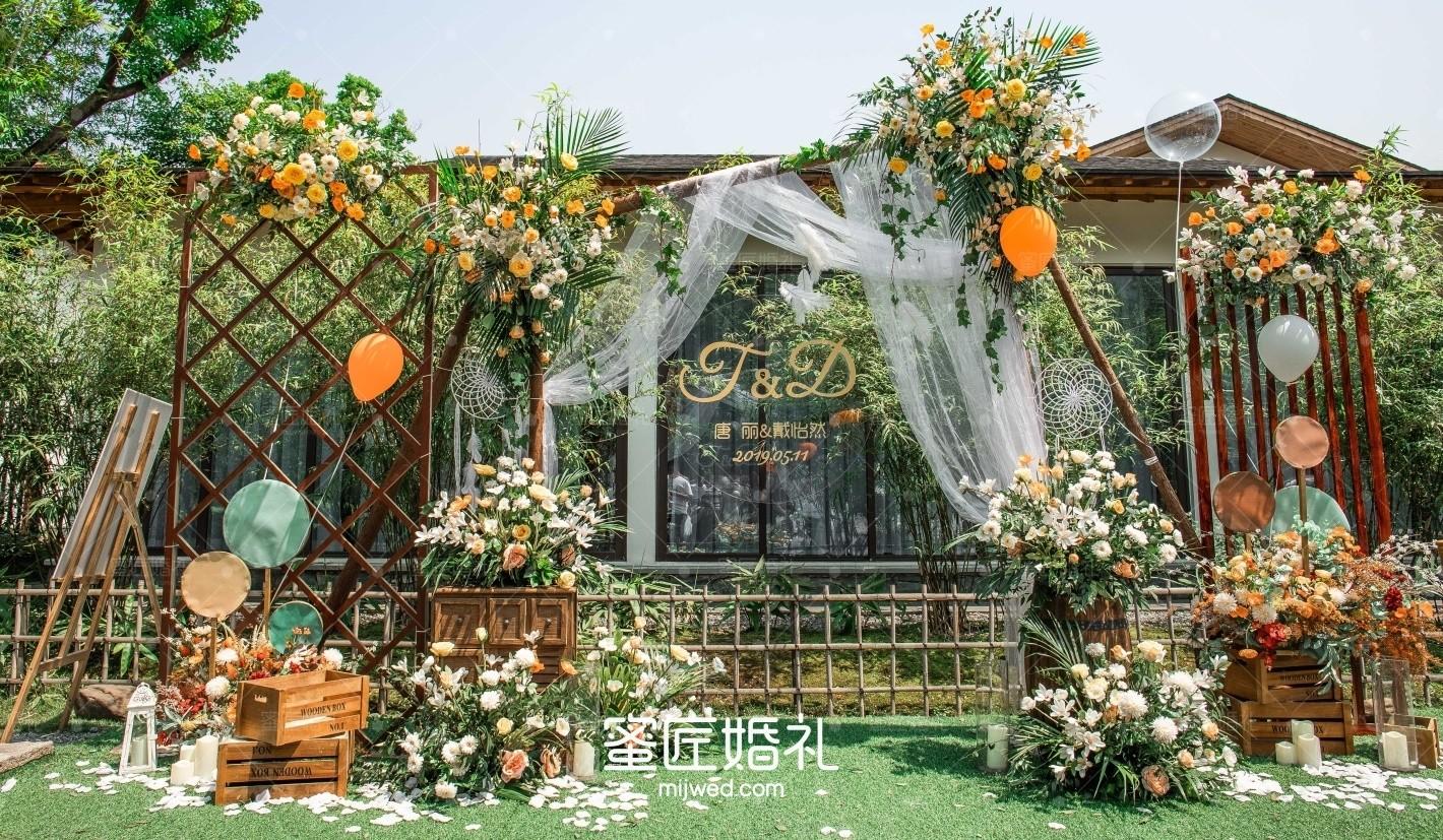 绿色主题婚礼布置方案