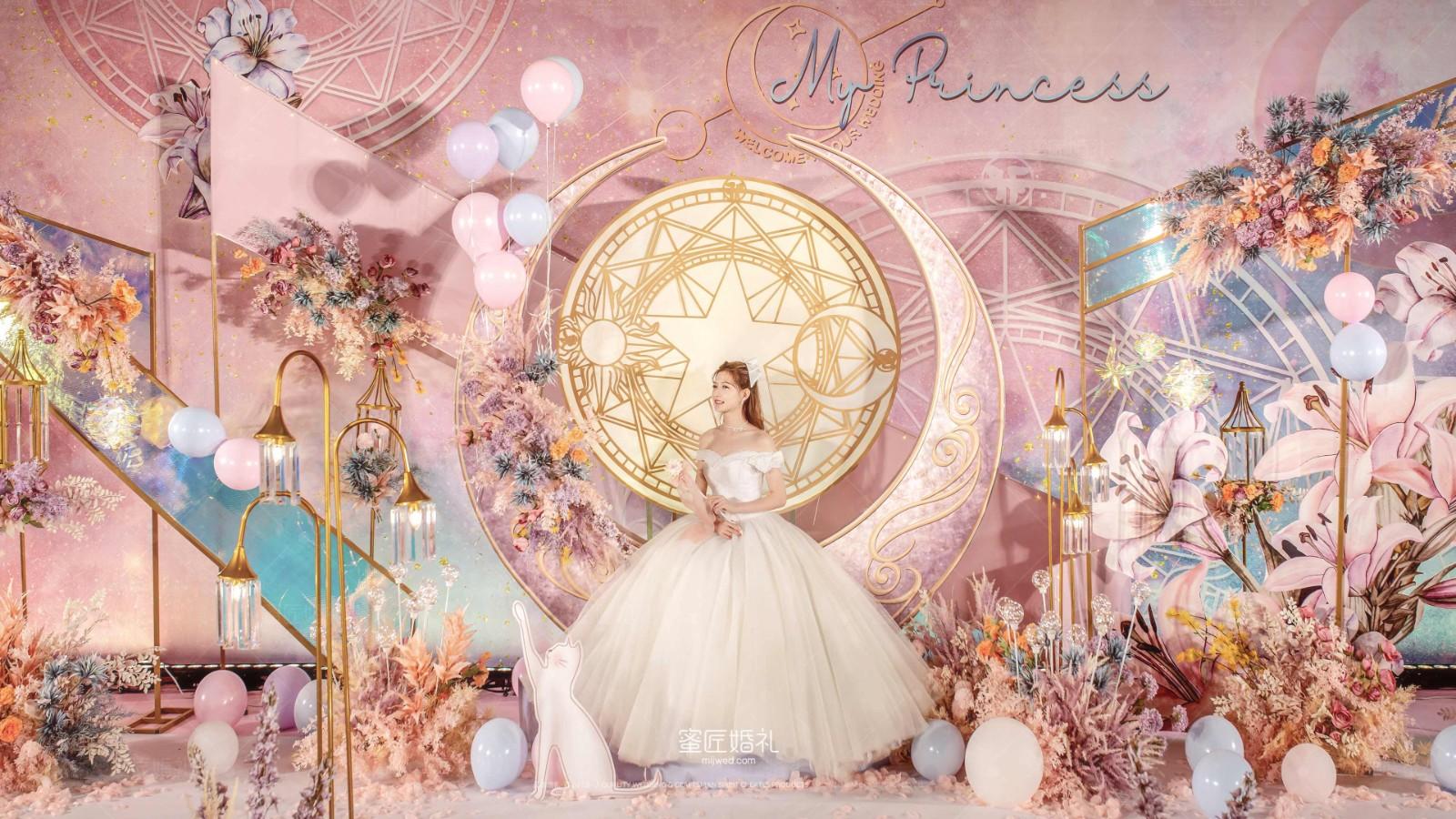 粉色梦幻系主题婚礼布置 梦幻的粉色系主题婚礼