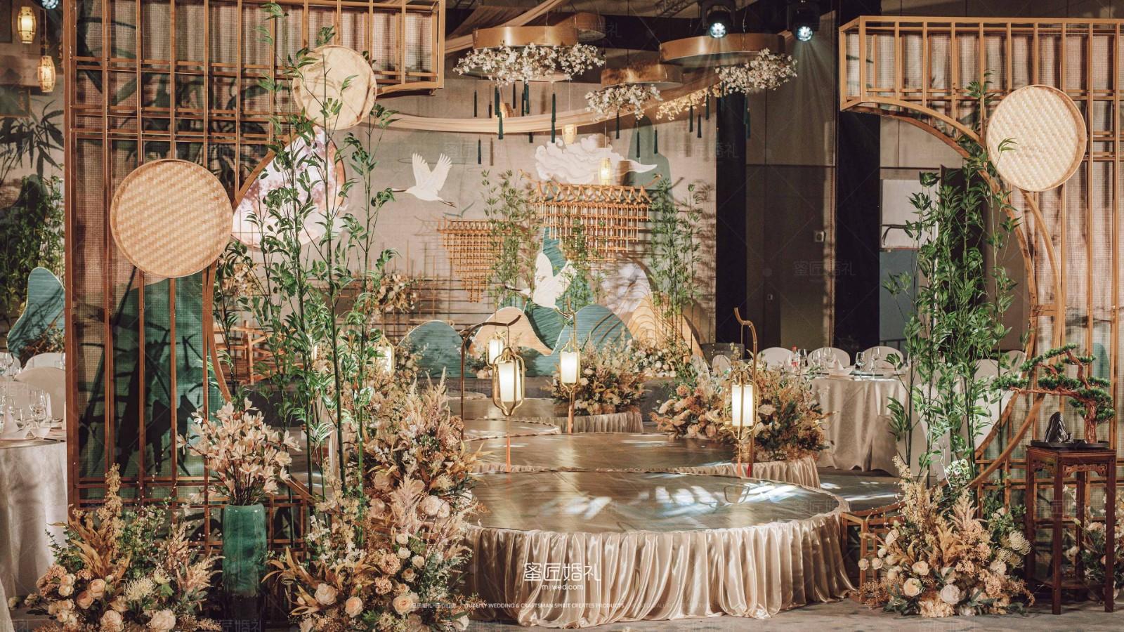 小清新庭院风格婚礼现场 小清新中式风格婚礼推荐