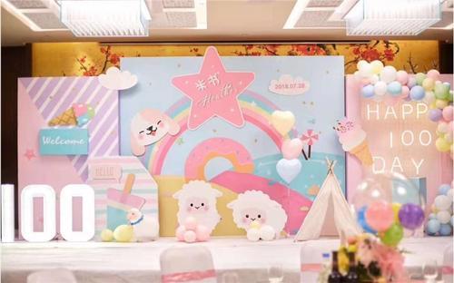 竹溪县宝宝宴气球布置一般多少钱 竹溪县宝宝周岁宴气装饰