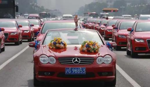 婚车头车尾车讲究