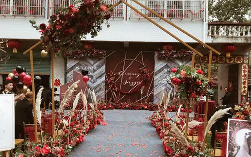 农村婚礼场地布置简单