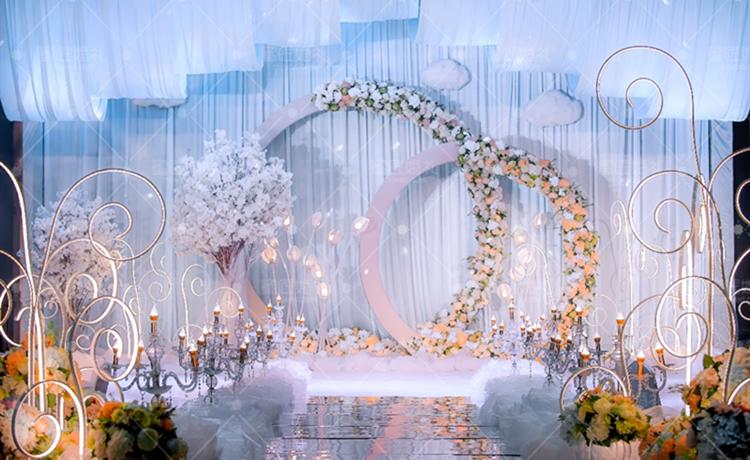 云画の月光主题婚礼