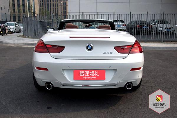 太和县宝马6系两座敞蓬跑车婚车租赁4