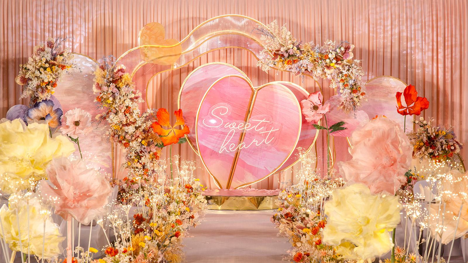 哈密地区婚礼策划方案:甜心