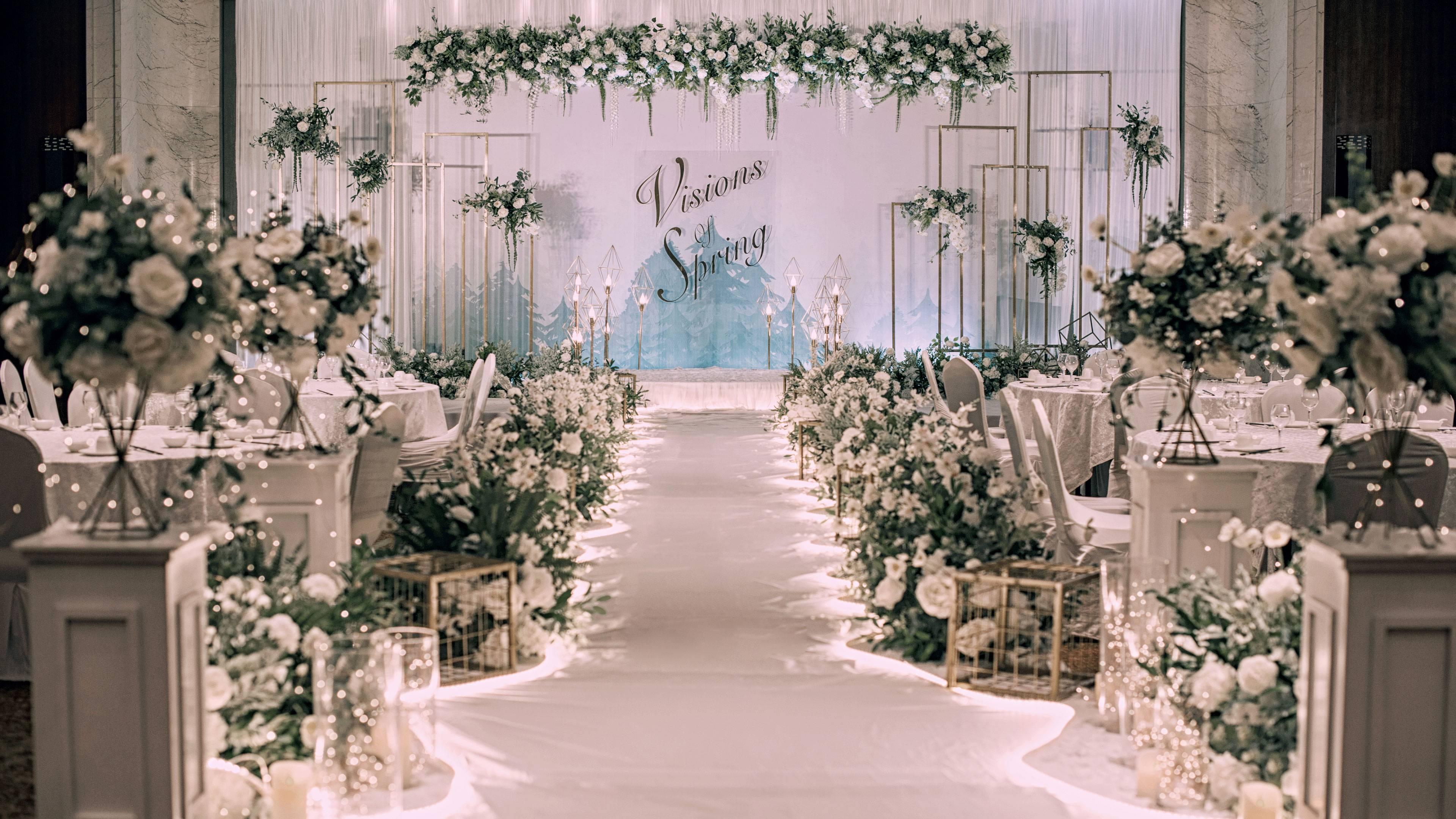 岳西西式婚礼布置效果 岳西西式婚礼场地推荐