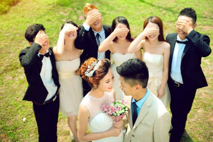 朋友圈婚礼邀请词